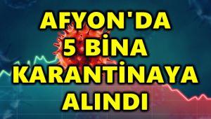 AFYON'DA 5 BİNA KARANTİNAYA ALINDI