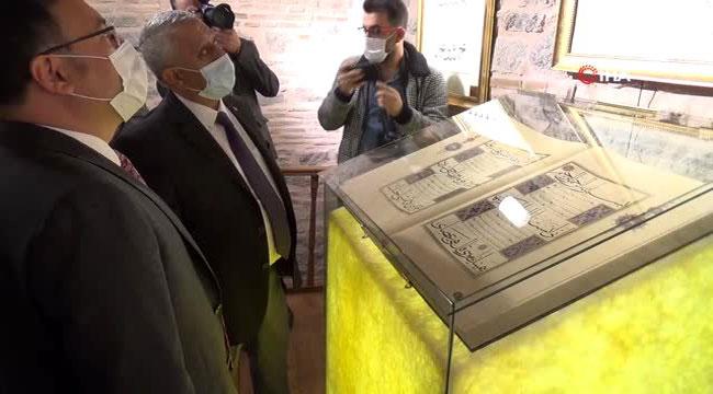 AFYON'DA HATTAT AHMET ŞEMSEDDİN KARAHİSAR-İ TÜRK İSLAM SANATLARI GALERİSİ AÇILDI