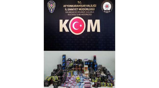 AFYONKARAHİSAR POLİSİNDEN İŞYERLERİNE KAÇAKÇILIK OPERASYONU
