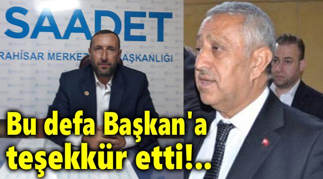 BU SEFER BAŞKAN ZEYBEK'İ TEBRİK ETTİ!..