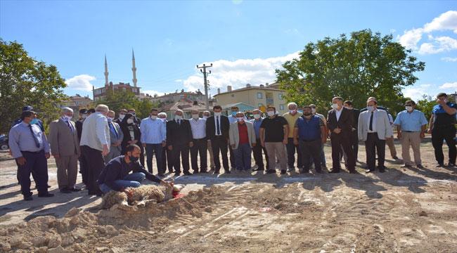 """İSCEHİSAR """"KADIN KÜLTÜR EVİ""""NİN TEMELİ ATILDI"""