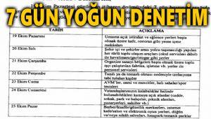 İŞTE 7 GÜNLÜK DENETİM PROGRAMI!..
