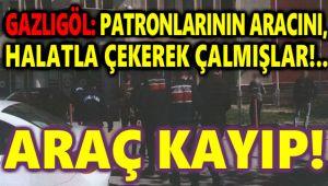 PATRONLARININ ARACINI, HALATLA ÇEKEREK ÇALMIŞLAR!..