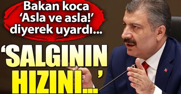 SALGININ HIZINI KESTİK DEDİ VE UYARDI!..