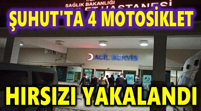 ŞUHUT'TA 4 MOTOSİKLET HIRSIZI YAKALANDI