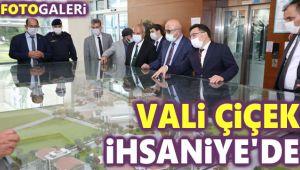 VALİ ÇİÇEK İHSANİYE'DE İNCELEMELERDE BULUNDU