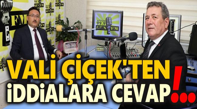 VALİ ÇİÇEK'TEN İDDİALARA CEVAP!..