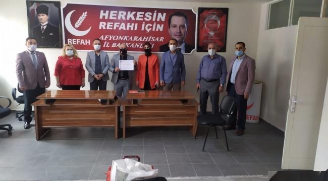 YENİDEN REFAH PARTİSİ, KAN VER AFYON KAMPANYASINA DESTEK VERECEK