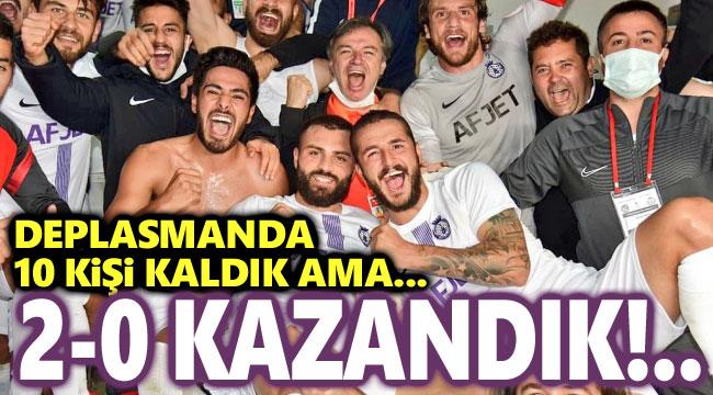 AFJET AFYONSPOR, DEPLASMANDA ERGENE VELİMEŞE'Yİ 2-0 MAĞLUP ETTİ