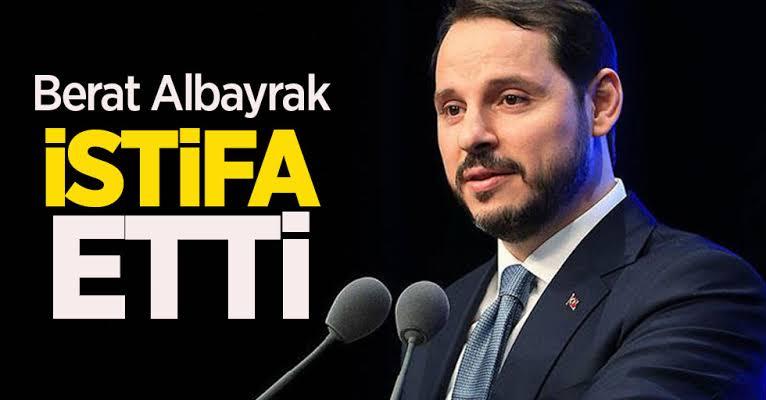BERAT ALBAYRAK İSTİFA ETTİ