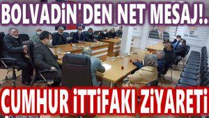 BOLVADİN'DE MHP'DEN AK PARTİ'YE ANLAMLI ZİYARET