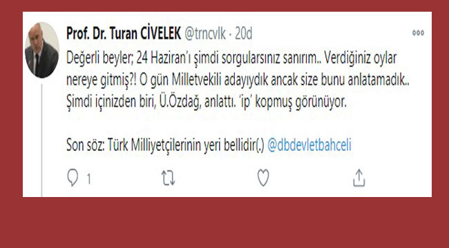 DEKAN'DAN İYİ PARTİ'YE: İP KOPMUŞ GÖRÜNÜYOR!..