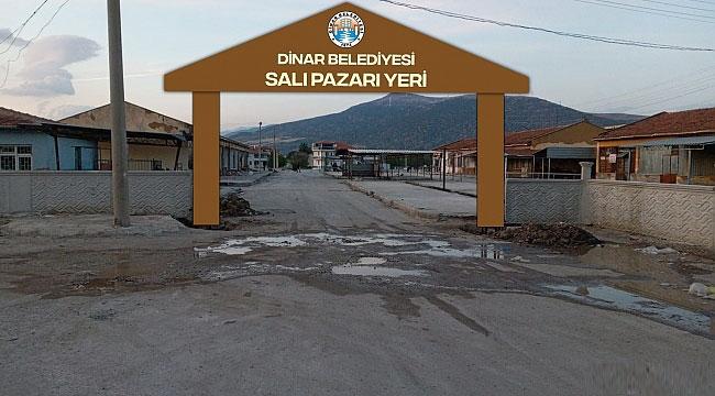 DİNAR'DA PAZAR YERİ ÇALIŞMALARI DEVAM EDİYOR