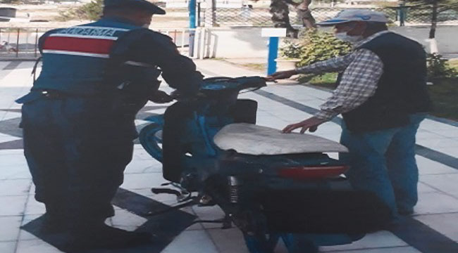 İSCEHİSAR'DA MOTOSİKLET HIRSIZI YAKALANDI