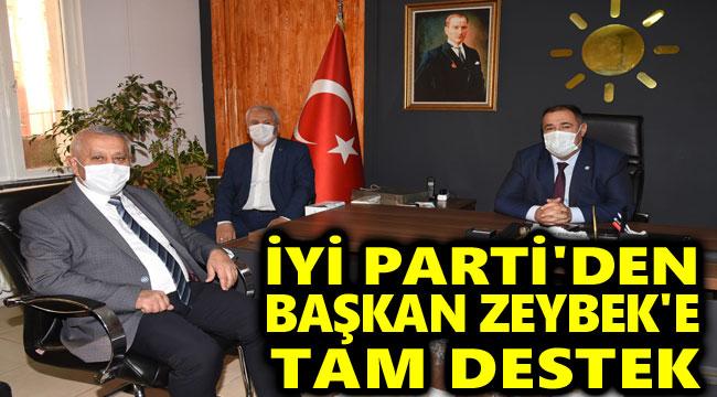İYİ PARTİ'DEN ZEYBEK BAŞKAN'A TAM DESTEK