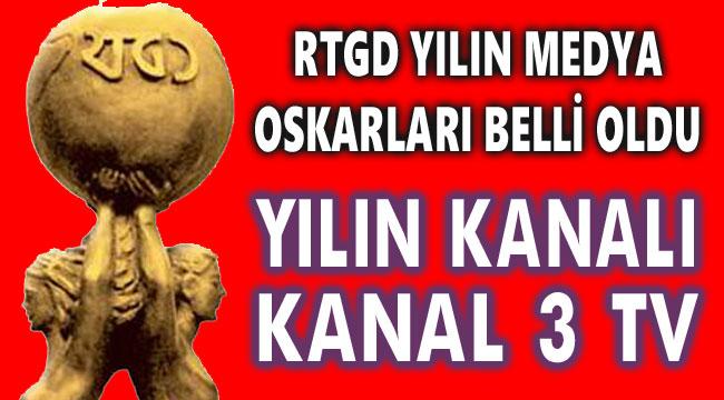 KANAL 3, RTGD MEDYA OSKARLARI YARIŞMASINDA YILIN YEREL KANALI SEÇİLDİ