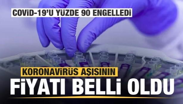 KORONAVİRÜS AŞISININ FİYATI BELLİ OLDU!..