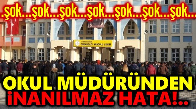 OKUL MÜDÜRÜ, KARANTİNAYA UYMADI İDDİASI!..