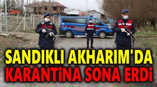 SANDIKLI AKHARIM'DA KARANTİNA SONA ERDİ