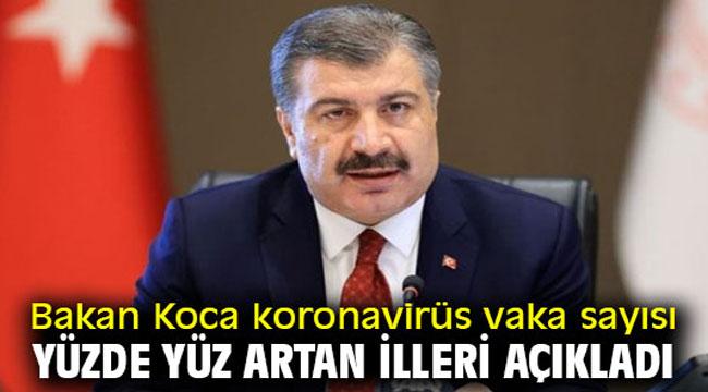 VAKA SAYISI YÜZDE 100 ARTAN İLLER!..