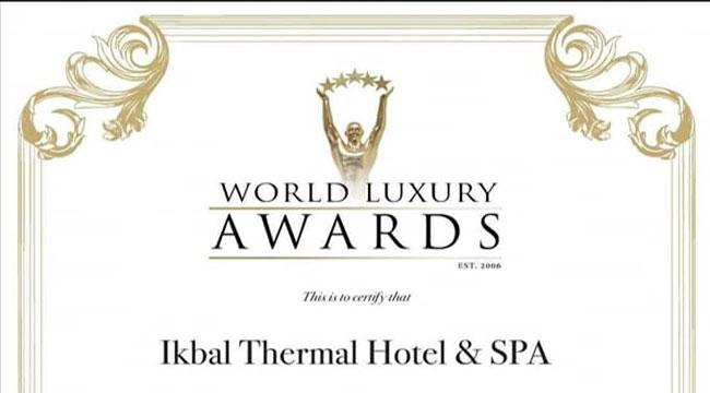 WORLD LUXURY HOTEL AWARDS ÖDÜLÜ AFYON'A GELDİ!..