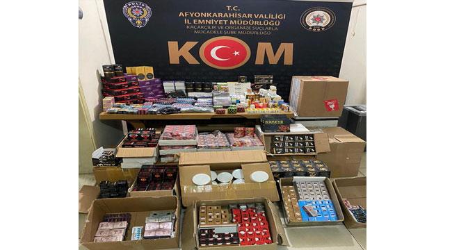 Afyon'da gümrük kaçağı cinsel içerikli ürünler ele geçirildi