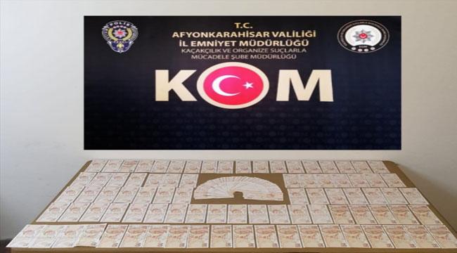 Afyonkarahisar'da sahte para ele geçirilen otomobil sürücüsü gözaltına alındı
