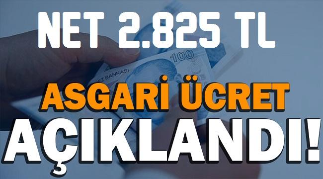 Asgari ücret net 2.825 TL!..