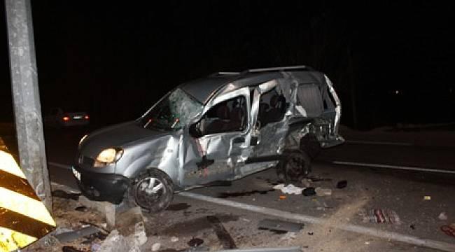 Çay'da trafik kazası; 1 ölü, 3 yaralı