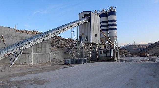 Dinar'ın ilk beton parke fabrikası hayırlı olsun