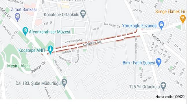 Güvenevler Mahallesi Kocatepe Caddesi 19-21 Aralık'ta trafiğe kapalı!..
