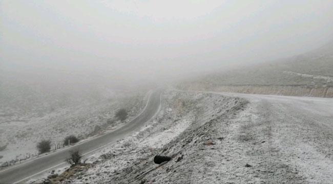 Şuhut dağlarına kar yağdı!..