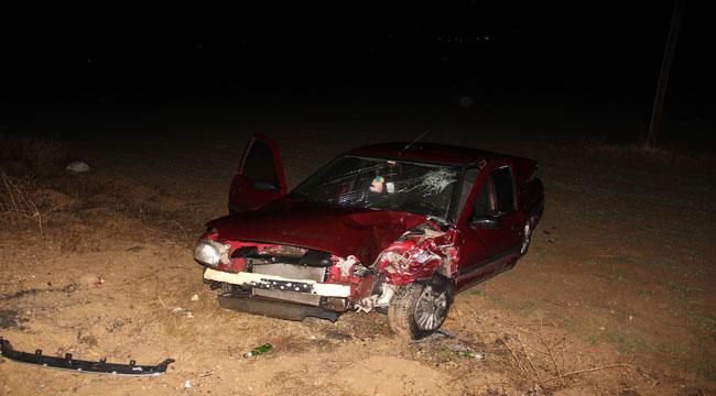 Gazlıgöl'de traktörle otomobil çarpıştı: 5 yaralı