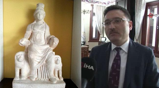 Vali Çiçek: Kybele heykeli yarın Türkiye'de olacak