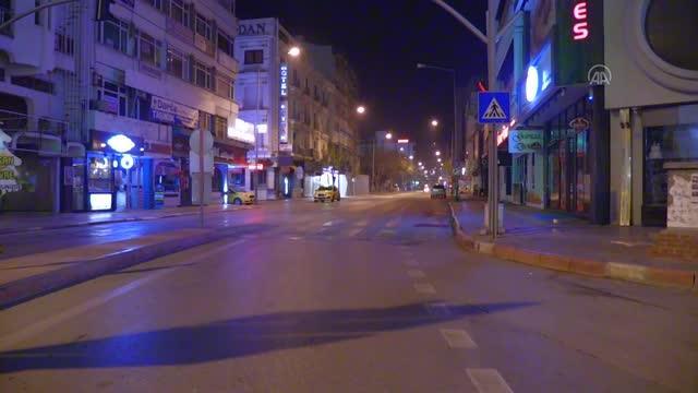 YASAK BAŞLADI, AFYON CADDELERİ SESSİZLİĞE BÜRÜNDÜ!..