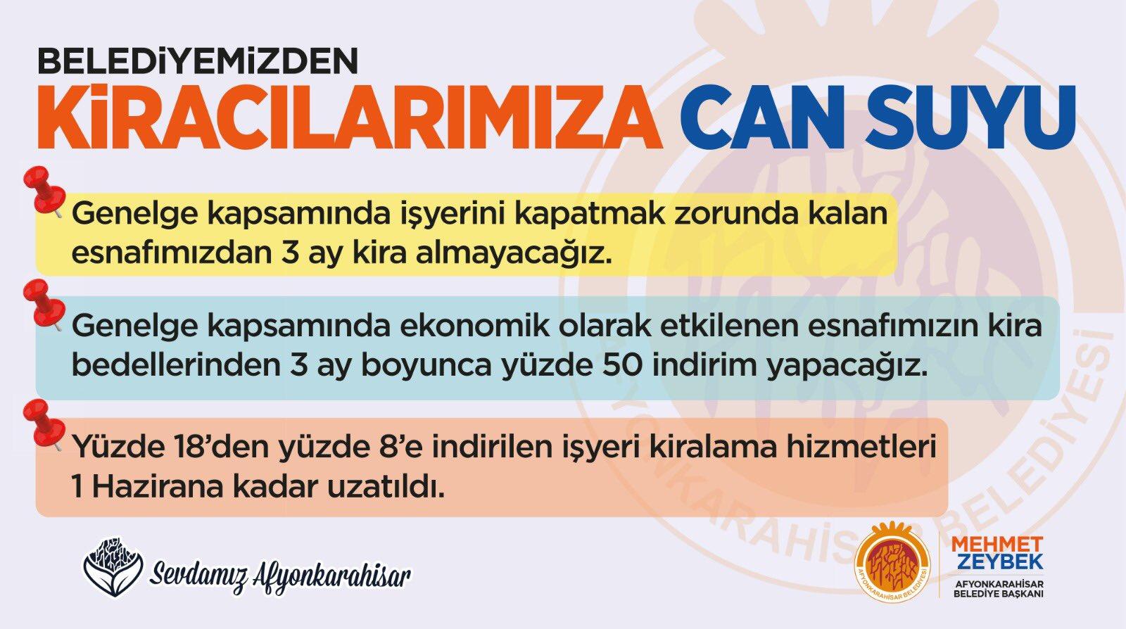 Zeybek'ten belediye kiracılarına müjde!..
