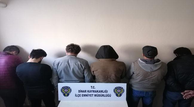 Afyon'da farklı suçlara karışan 6 yabancı uyruklu kişi sınır dışı edilecek