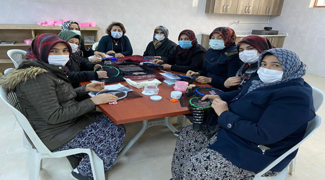 Afyon'da kurulan kadın kooperatiflerinde üretim başladı