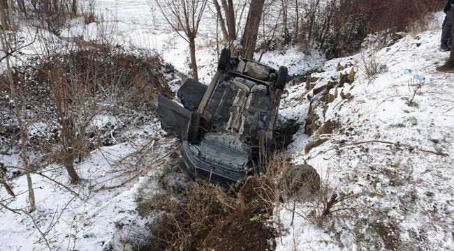 Afyon'da otomobil takla attı: 4 yaralı