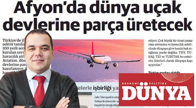 Afyon'da dünya uçak devlerine parça üretecek