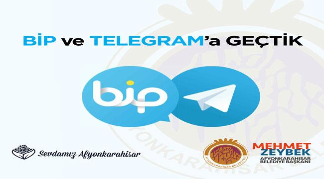 Afyonkarahisar Belediyesi haberleşme gruplarını BiP ve Telegram'a taşıdı