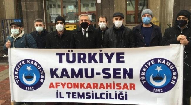 Afyonkarahisar Kamu Sen'den Cumhurbaşkanı Erdoğan'a memur maaşları mektubu