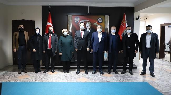 AK Parti'den esnaf, STK ve emniyet teşkilatına destek ziyaretleri