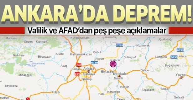 Ankara Kalecik'te deprem!..