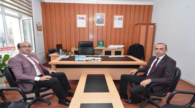 Başkan Mustafa Çöl, ilçe Emniyet Müdürünü ziyaret etti