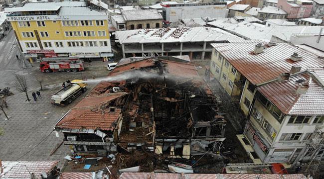 Bolvadin'deki yangının boyutu gün ağardığında ortaya çıktı