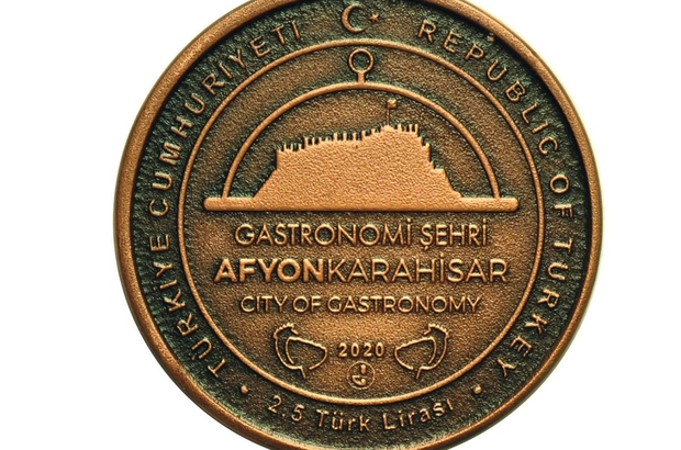 """""""Gastronomi şehri Afyonkarahisar"""" için hatıra paraları basıldı"""