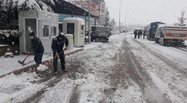 İhsaniye ilçesi karla kaplandı