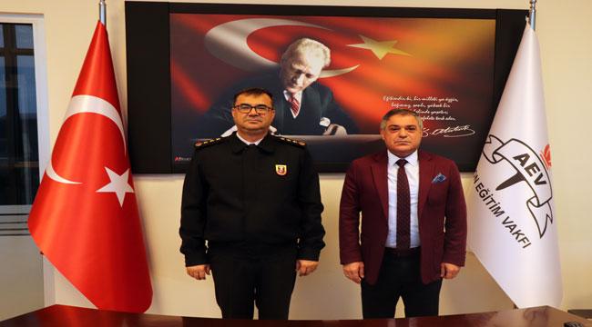 İl jandarma komutanı Kırgel'den AEV'e ziyaret