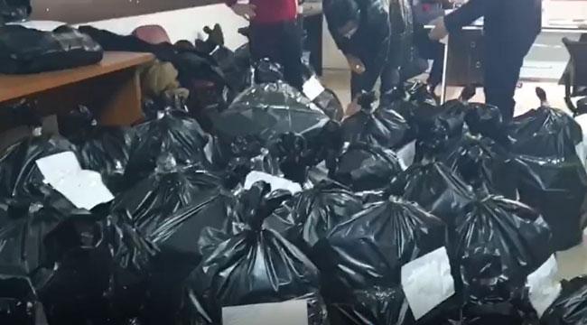 Jandarma suçlulara ulaşmak için çöp kutularına dahi baktı